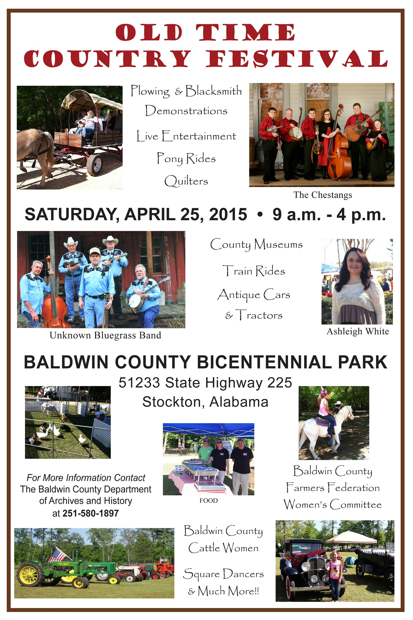Alabama baldwin county stockton -  Of Archives And History Will Be Sponsoring The 5th Annual Old Time Country Festival At The Baldwin County Bicentennial Park In Stockton Alabama